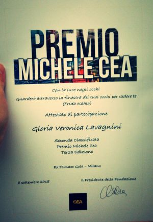Lavagnini - Vincitrice Premio Michele Cea 2018